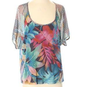 Anthropologie Weston Wear Tropical Blouse XS